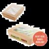 Salad box karton kraft 190x150x50mm 1000ml scharnierdeksel met venster