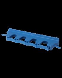 Ophangsysteem, Polipropyleen, rubber 393x80x60mm 4 flexibele klemmen & 2 haakjes, blauw 1018/3