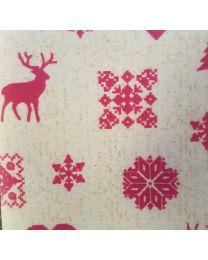 Geschenkpapier Rode kerst Merry - 50cmx250m - kraft