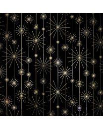 Geschenkpapier Goud/Zilveren ster Merry - 50cmx100m