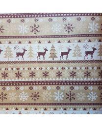 Wit geschenkpapier Kerst patroon Merry - 50cmx250m