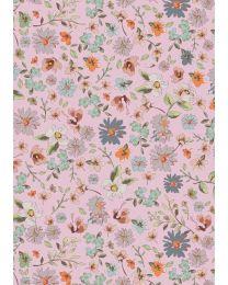 Geschenkpapier beautiful flowers roos  K601755/1 50cmx200m