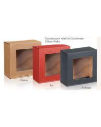 Geschenkbox met venster NATUUR 190x200x95mm