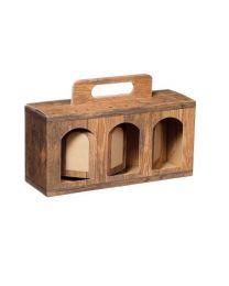Draagbox voor 3 glazen groot 246x78x116mm