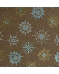 Bruin geschenkpapier Sneeuw Merry kraft - 1844 7060