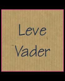 Etiket vierkant 30x30mm kraft + opdruk blauw LEVE VADER - EV3KLV