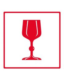 Symbooletiketten - 99 mm x 99 mm - rood glas - SE1001-02