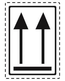 Symbooletiketten 75 x 105 mm - '2 pijlen' zwart - SE1030