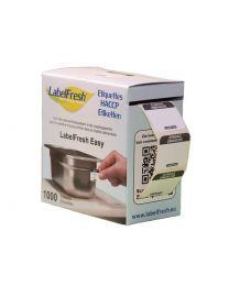 LABELFRESH etiketten EASY 30x25mm ZONDAG-DIMANCHE - LFEASYZODI