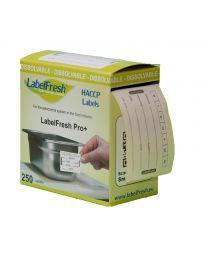 LABELFRESH dissolvable etiketten PRO 70x45mm x 7 DAGEN - LFPRODIS7DAYS
