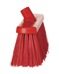 Straatborstel, polyester vezels, hard 177x69x300mm, rood 2915/4