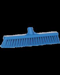 Veegborstel, polipropyleen vezels, zacht en gespleten 130x46x400mm, blauw 3178/3