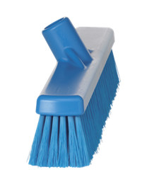 Veegborstel, polyester vezels, zacht 125x48x400mm, blauw 3179/3