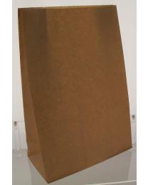 Blokbodemzakjes BRUIN gelijnde kraft 60gr/m² + PE 30my 8+5x19cm - BLOKB8050190