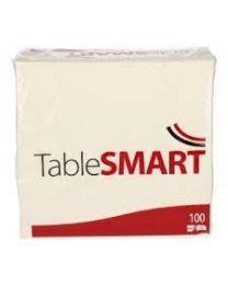 Servetten Tablesmart WIT 2lgs 24x24cm