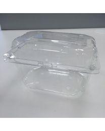 Kunststofschaal AGF LUCKYPACK transp 187x144x116mm scharnierdeksel 750-1000g - PAC8H116