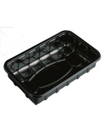 Kunststofschaal AGF RAVIPACK zwart 236x74x30mm - WVT1030Z