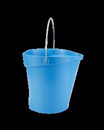 Vikan Emmer 12 liter, Polipropyleen - roestvrij staal 323x312x318mm, blauw 5686/3, 6 stuks