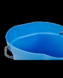 Vikan Emmer 6 liter, Polipropyleen - roestvrij staal 255x257x246mm, blauw 5688/3, 5 stuks