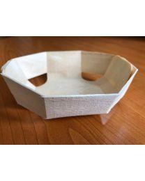 Bakje hout naturel 8-hoekig 110x35mm