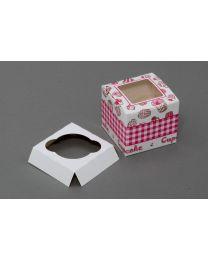 Cupcakedozen met venster voor 1 cupcake 9x9x8cm - CC998