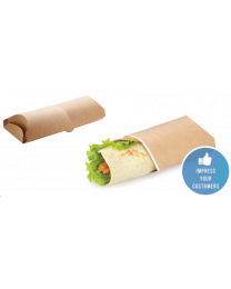 Sleeve tortilla karton kraft 200x70x55mm 1st