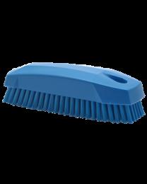 "Vikan Handschuurborstel ""S"" Nagelborstel, Polyester vezels, hard 40x50x130mm, blauw 6440/3, 25 stuks"