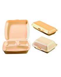 Lunch box EPS HP3 champagne 160x240x75mm scharnierdeksel - LIHP3