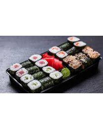 Sushi verpakking deksel RPET transp 199x113x27mm  - K84112