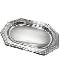 Presenteerschotel PET rechthoekig zilver 460x300x22mm  - S318