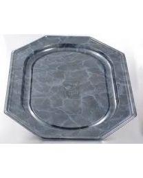 Presenteerschotel PET octagonaal zwart marmer 460x300mm - SM8365