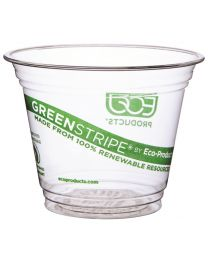 Drinkbeker PLA GREENSTRIPE transp 265ml