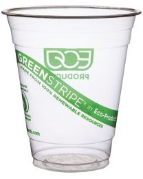 Drinkbeker PLA GREENSTRIPE transp 355ml