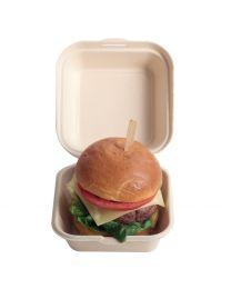 Hamburgerverpakking BEPULP 155x148x80mm 800ml scharnierdeksel (PUL2014)