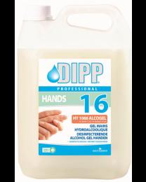 DIPP N°16 Desinfecterende alcoholgel handen 4x5 liter (1605)