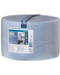Tork Wiping Paper Plus Roll Blue 24cmx510m (1500 vel) - W2 - TORK130051