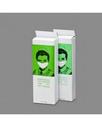 Papieren Masker WIT 2 lgs - MASP2P
