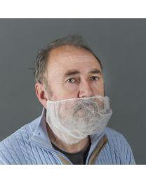 Non-woven baardmasker WIT