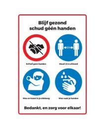 STICKER Pictogrammen overzicht, easy dot vinyl + glans laminaat