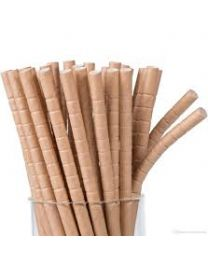 Rietjes Buigzaam papier BRUIN (kraft) 22cm/5,8mm