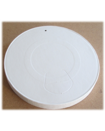 Deksel karton wit Ø 63 mm voor 120ml beker