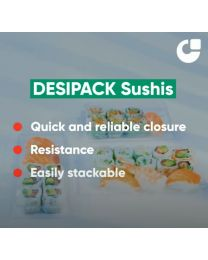 Desipack Sushi lid transparant 140x60 mm