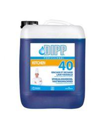 DIPP N°40 - SPOELGLANSMIDDEL VAATWASMACHINES 1 x 10L (4010)