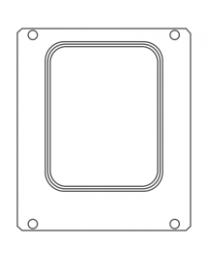 Vormdeel MANUPACK 190, 227 x 177 mm, 1 cav