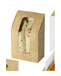 Doosje karton LUNCHIPACK kraft 2 Wraps