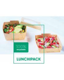 Bakje karton LUNCHIPACK kraft + lid carton/RPET RPET 850 ml