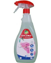 Polgreen Sanispray, Kant en klare sanitaireiniger,6x750ml