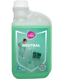 Polvita Neutral,Beschermend probiotisch reinigingsmiddel voor vloeren en oppervlakken, 6x1L