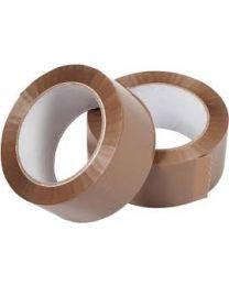 Kleefband PP - acryl LN - 50 mm x 66 M - havanna - 28 mc -