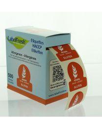 LABELFRESH etiketten 70x45mm GLUTEN - LFALLERGGLUTEN